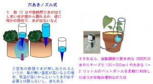 穴あけノズル式の欠点など ドリップ灌漑