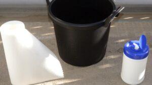 楽々底面給水シート(水面設置型)による底面給水鉢