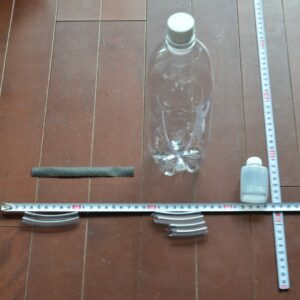 PETボトルタレ瓶拡張式 給水部 材料とスケール