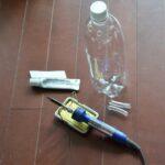 大きなペットボトルによるSIMERUS水やりテープ(タレ瓶活用型) 熱加工法