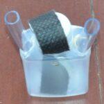 大きなペットボトルによるSIMERUS水やりテープ(タレ瓶活用型)による給水器 詳細の俯瞰