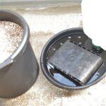 底面設置用 底面給水鉢の台座 楽々底面給水シートセット例