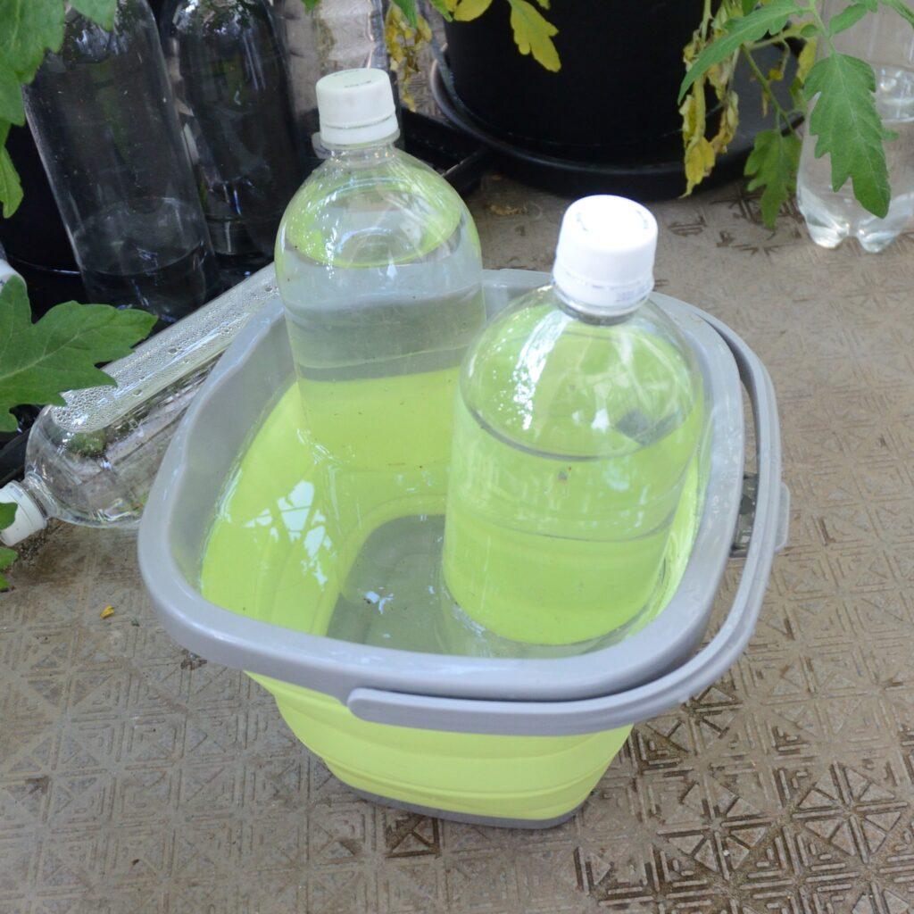 水面設定用PETボトルタンク 簡単運搬