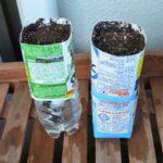 紙パック植木鉢土壌充填